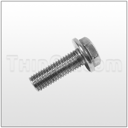 Hex head flange bolt (T819.4343) ST.STL